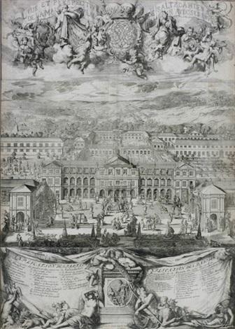 vue et perspective de saltzdahlen de la maison plaisantedu jardin avec ses environs by romeyn de hooghe
