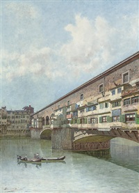 the ponte vecchio, florence by ernesto bensa