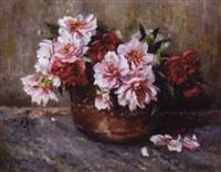 peonies in a vase by elisabeth jordis grafin von attems