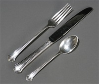 table service in chippendale pattern (set of 107) by towle silver