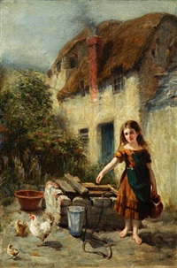 the village maiden by john brown abercromby