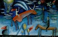legende einer fliegenden kuh by alexander abramov