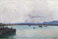 dover harbour (the fleet at anchor) by john lavery