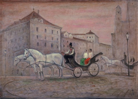 a viennese horse wagon by chen ching jung