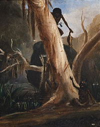 aborigines hunting by thomas tyrwitt balcombe