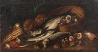 nature morte aux poissons et légumes by mateo cerezo