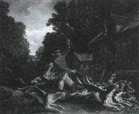 piqueux et ses chiens by alexandre antigna