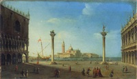la piazzetta et l'ile saint georges by luigi querena