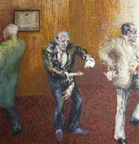card trick at the north pole pub - clapham by maggi hambling