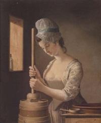 the butter churner by henry robert morland