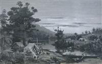 maori village by trevor lloyd