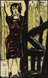 standing woman #19 by fritz brandtner