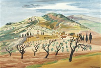 paysage d'assise by yves brayer