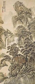 观瀑图 by liu rongdi