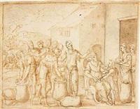 joseph's brothers returning to jacob by bernard (le petit bernard) salomon