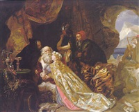 king lear and cordelia by edward matthew ward