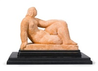 reclining nude by frank dobson