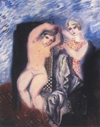 femme à sa toilette by zygmunt dobrzycki