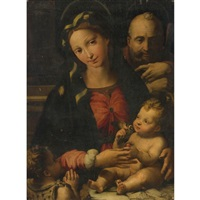 the holy family with the infant saint john the baptist by perino del vaga