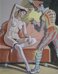 polichinelle et colombine by robert lepeltier