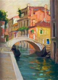 canal in venice by pauline palmer