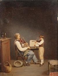 la leçon de violon by victor mongodin