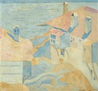 houses, mount athos by spyros papaloukas