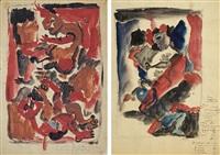figural composition (sketch) by eugeniusz markowski
