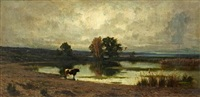 the roman campagna by achille vertunni