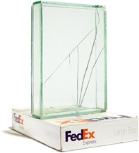 fedex® large box ©2005 fedex 139751 rev 10/05 sscc, priority overnight, los angeles-new york trk#795506878000, november 27-28, 2007 by walead beshty