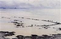 la pêcherie de sol-roc près de saint-jean-le thomas by pierre brette