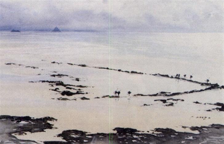 la pêcherie de sol roc près de saint jean le thomas by pierre brette