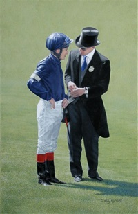 johnny murtagh and his trainer, aidan o'brien by sally hynard