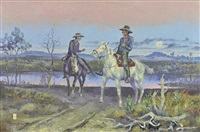 two men on horseback by ace powell