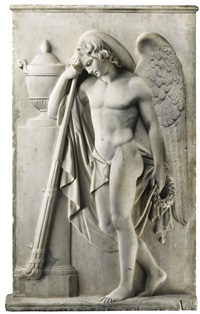 relief with a torchbearer by antonio canova