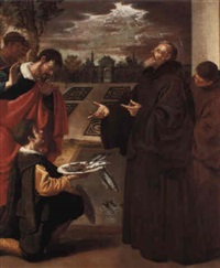 st. francis of paola blessing the fish by josé (jusepe) leonardo de chavier