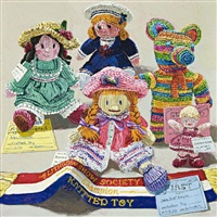 knitted toy by lucy culliton