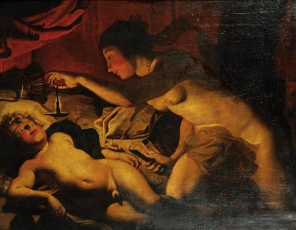 psyché et lamour endormi by jacques blanchard