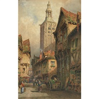 continental town scene by herbert parsons weaver