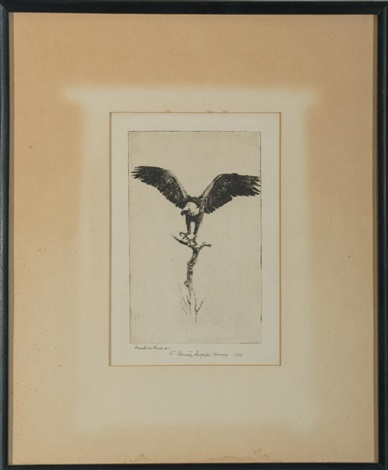eagle alighting by frank weston benson