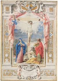 the crucifixion in an elaborate architectural framework by antonio maria antonozzi