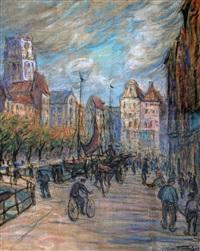 rotterdamse straat met de laurenskerk by max fleischer