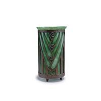 vase verre de jade mit eisenmontierung von louis majorelle by louis majorelle