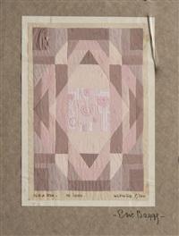 trois projets de tapis et moquette (3 works) by eric bagge