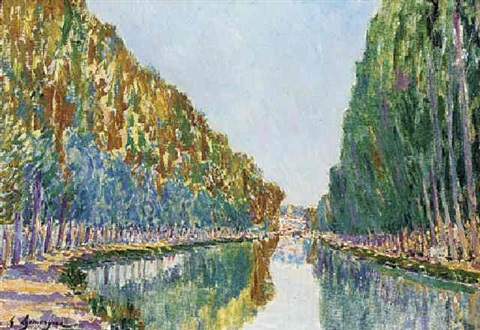 canal st martin by gaston domergue