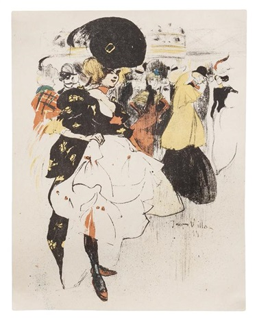 danseuse au moulin rouge from lestampe et laffiche by jacques villon