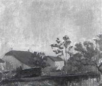bauernhof an einem weiher by alexandre rochat