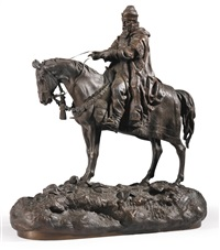 an equestrian figure of ivan the terrible by vassili yacovlevitch grachev