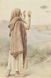 pélerin dans le désert by henry ryland