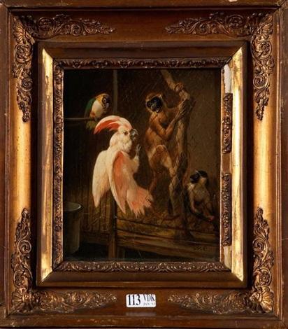 singes et perroquets by henriette ronner knip